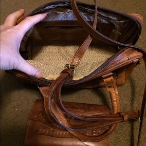 Bags - Genuine leather handbag with matching wallet.